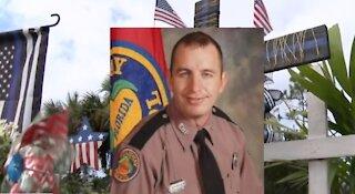 Martin County Sheriff's Office dedicates memorial to fallen trooper
