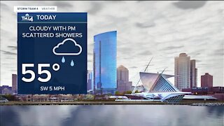 Cloudy Saturday with afternoon showers on the way