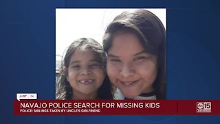 Navajo police searching for missing kids