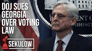 DOJ Sues Georgia Over Voting Law
