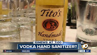 Tito's Vodka can be used in hand sanitizer?
