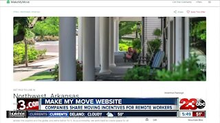 Make My Move website, companies share moving incentives for remote workers