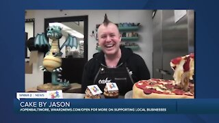 """Cake by Jason says """"We're Open Baltimore!"""""""