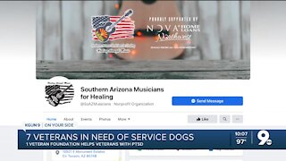 Veterans battling with PTSD in need of service dogs