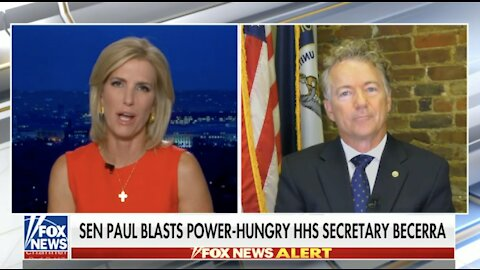 Dr. Rand Paul on HHS Sec. Becerra Ignoring COVID-19 Science - October 1, 2021