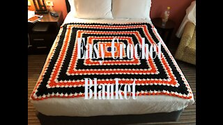 A Beautiful & Easy Crochet Blanket from Left Over Yarn