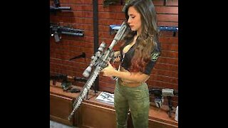 Shooting with military weapons
