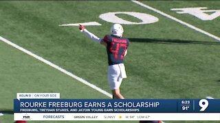 Rourke Freeburg earns a football scholarship