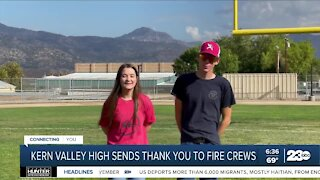 Kern Valley High thanks fire crews who battled French Fire