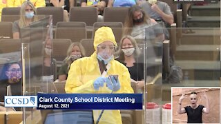 Clark County School District board meeting gets heated over mask mandate