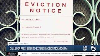 Calls for Biden to extend eviction moratorium