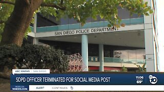 SDPD officer no longer with department over social media post