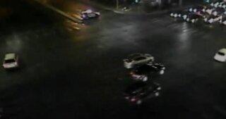 Motorcyclist critically injured in crash on Decatur Boulevard