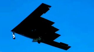 Stealth Bomber aircraft flying in the skies