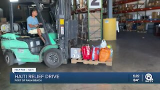 Haitian relief drive held at Port of Palm Beach