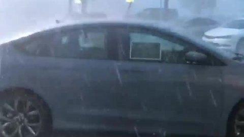 Intense hail storm in St. Louis, Missouri