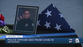 West Palm Beach flies flags at half-staff for officer who died from COVID-19