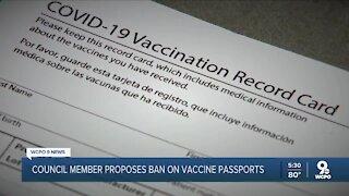City council member files motion against city-wide vaccine passport
