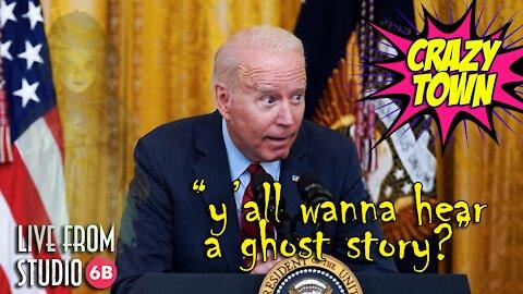 Joe Biden Won't Stop CREEPY Whispering into the Mic!! (Crazy Town)