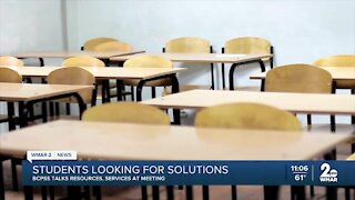 Baltimore City Schools talks resources, services during meeting