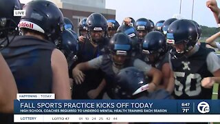 High school football coach discusses mental health training for student athletes