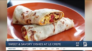 Owner of Le Crepe talks about his sweet and savory dishes