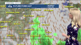 Warm and muggy Monday with showers
