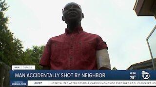 Man accidentally shot by neighbor
