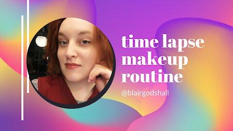 time lapse makeup look
