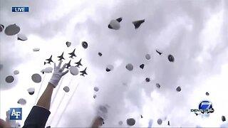 U.S. Air Force Academy graduation hat toss