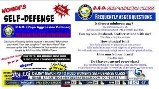 Delray Beach police holding women's self defense course