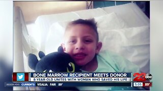Child cancer survivor reunited with the woman that saved his life