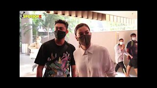 Spotted: Gauahar Khan with Boyfriend Zaid Darbar at the Airport | SpotboyE