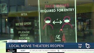 San Diego movie theaters reopen under coronavirus restrictions