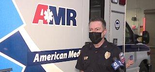 AMR Las Vegas nurse Marc Johnson is honored during National Nurses Week