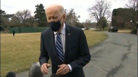 Biden Using A Green Screen