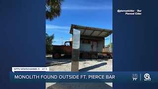 Mysterious monolith appears outside Fort Pierce bar