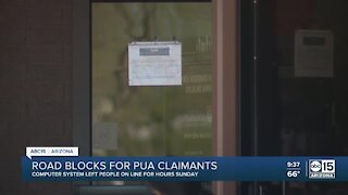 Road blocks for PUA claimants