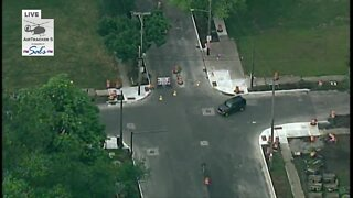 Portion of East 55th Street closed