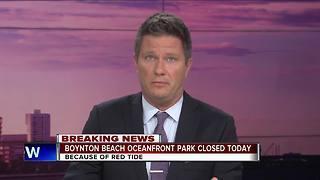 Boynton Beach Oceanfront Park closed for red tide