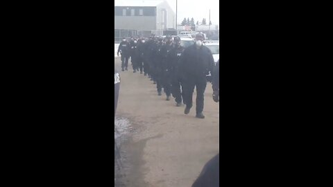 INSANE: Hundreds of Cops Surround Church in Canada to Stop People Entering Building and Defend Wall