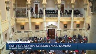 State legislative session ended Monday