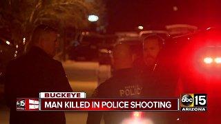 uspect dies after officer-involved shooting in Acacia Crossing neighborhood in Buckeye
