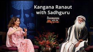 Kangana Ranaut with Sadhguru