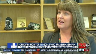 Officials monitor 11 people amid coronavirus concerns