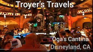Oga's Cantina at Disneyland, CA with Troyer's Travels