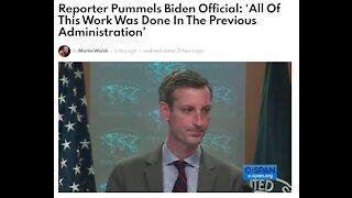 Watch As A MSM AP Reporter Pummels A Biden Official