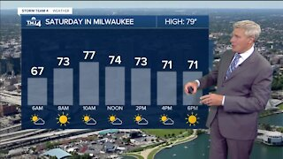 After morning shower, Saturday is sunny and in the 70s
