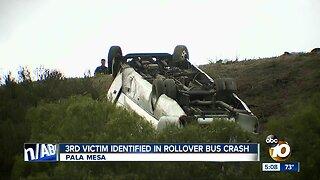 3rd victim identified in rollover bus crash