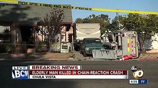 Pedestrian killed in Chula Vista crash
